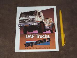 Details About 1987 Jan De Rooy Daf Turbotwin Ii Rally Paris Dakar Stickeraufkleber