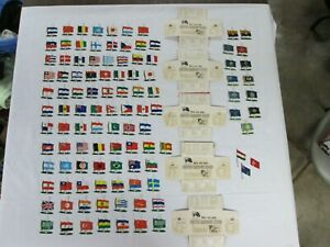 1959, Shredded Wheat, United Nations & State, Tin Litho Flags, Total 105 Flags