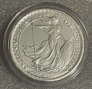 2014 1 oz .999 Silver Britannia Coin - HORSE PRIVY -  In Guardhouse Capsule