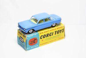 Corgi-229-Chevrolet-Corvair-Azul-Medio-En-Su-Caja-Original-Casi-Nuevo-Original