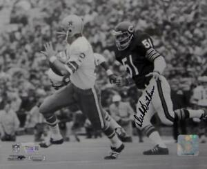 Dick-Butkus-Signed-8x10-Bears-Against-Cowboys-B-amp-W-PF-Photo-Fanatics-Auth-Black