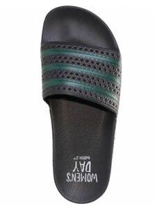 db24119da7d2 NEW! WOMEN S adidas ADILETTE BC0634 Slide Sandals Black Green INTN ...