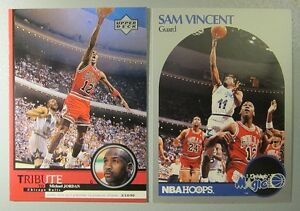 reputable site a1716 92bc4 Details about *COOL* (2) Cards LOT with Michael Jordan wearing JERSEY #12