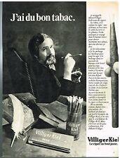 Publicité Advertising 1977 Le Cigare au bout jaune Villiger-Kiel