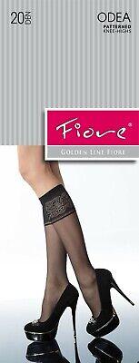 LIVCO CORSETTI Minessa Luxury 20 Denier Super Fine Decorative Patterned Socks