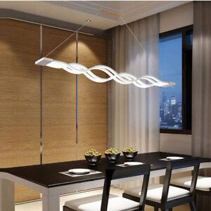 Image Is Loading Fashion Modern Wave LED Dining Room Home Pendant
