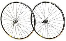 700c PAIR Shimano 105 32h Road Bike Mavic Open Pro Cassette Hub Black Rim Wheels