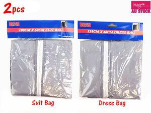 2x-Dress-Garment-Cover-Bag-Storage-Suit-Protector-Coat-Dustproof-Travel-Wedding
