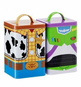 Disney-Toy-Story-4-Buzz-amp-Woody-Boite-Rangement-Ensemble-de-2-Neuf-Ru-Vendeur