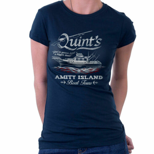 Quints Amity Island Boat Tours Jaws Women/'s T-Shirt