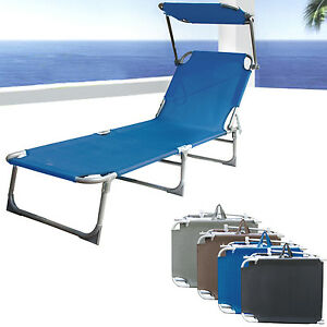 Image Is Loading Sun Bed Chair Beach Recliner Lounger Pool Seat