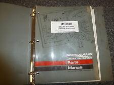 roadtec rx 60 parts manual book catalog milling machine paving part rh ebay com Ingersoll Rand Compressor Service Manual Ingersoll Rand TZM 160 Parts Manual