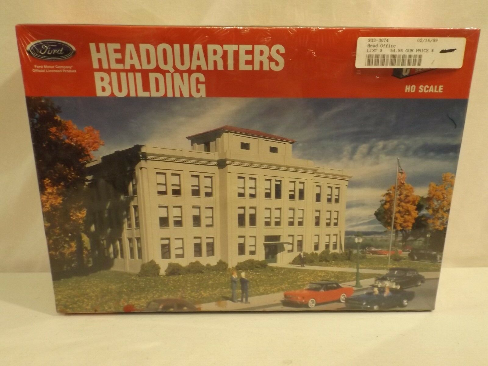 HO Walthers Cornerstone Ford headquarters building, NIB