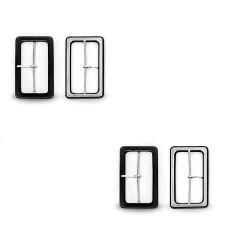 80mm Schwarz Beschichtet Bedeckt Rechteckige Schnallen für Herren Damen Handwerk