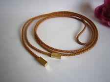 Louis Vuitton women's leather belt with golden cubes. Mint. 100% auth.