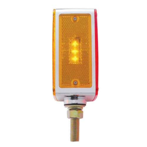 Driver Side 45 Amber//Red LED Double Face Square Turn Signal Amber//Red Lens