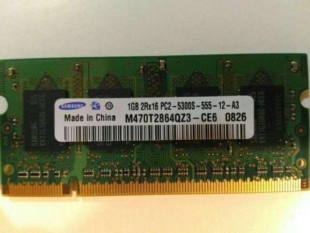 RAM PC Portable SODIMM Samsung M470T2864DZ3-CE6 DDR2 667Mhz 1Go PC2-5300S CL5