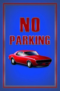No-Parking-Car-Red-Tin-Sign-Shield-Arched-Tin-Sign-20-x-30-cm-CC1024