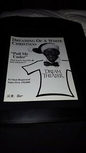 Dream-Theater-White-Christmas-Pull-Me-Under-Rare-Radio-Promo-Poster-Ad-Framed