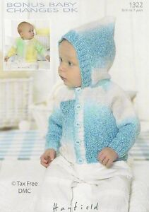 Vat Free Knitting Pattern Only Hayfield Dk Baby Child Boys Jackets