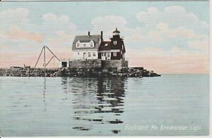 Rockland-Maine-Breakwater-Light-House-Rock-Pile-Vintage-postcard