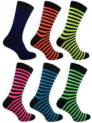 1 Mens Bassett Stripe Neon Teddy Boy Fancy Dress Party Socks Uk 6-11 Um Eine Reibungslose üBertragung Zu GewäHrleisten