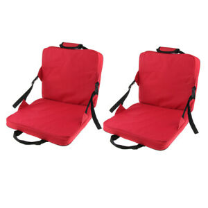 Stadium Chairs With Backs.Details About 2x Portable Stadium Seat Cushion With Backs Folding Bleacher Seats Cushion