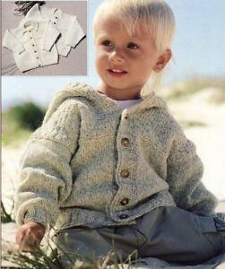 "34/"" CHILDREN KNITTING PATTERN-/'Teddy Brand/' Sweater /& Cardigan DK Wool  24/"""