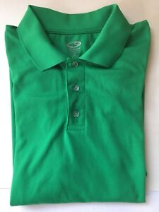 fce8a09d0 CHAMPION GOLF Duo Dry Men's Green Golf Polo Short Sleeve Shirt Large ...