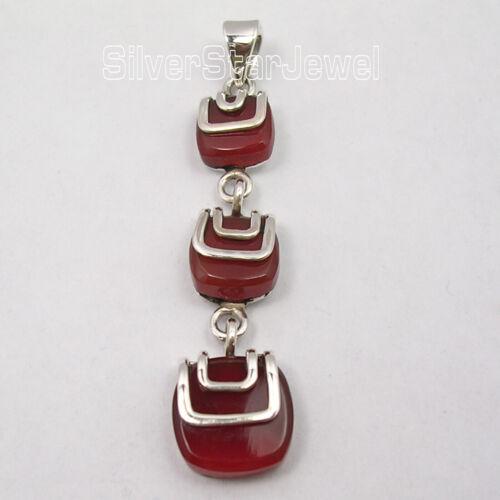 Solid Sterling Silver Hot Selling Art Jewelry Carnelian 12.0 TCW Pendant