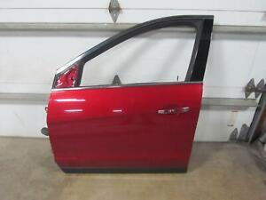 10-15-CADILLAC-SRX-Left-Driver-Drivers-Front-Door-Crystal-Claret-Red-Handle-OEM