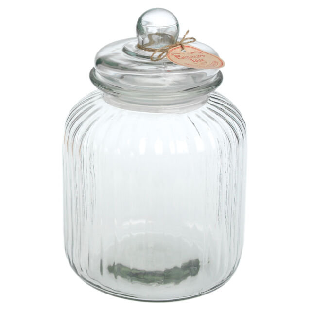 dotcomgiftshop VINTAGE STYLE GLASS LARGE STORAGE BISCUIT COOKIE SWEET CANDY JAR