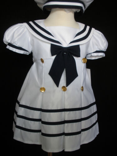 New Baby Girl Toddler Sailor Easter Party Formal Dress Outfits S M L XL 2T 3T 4T