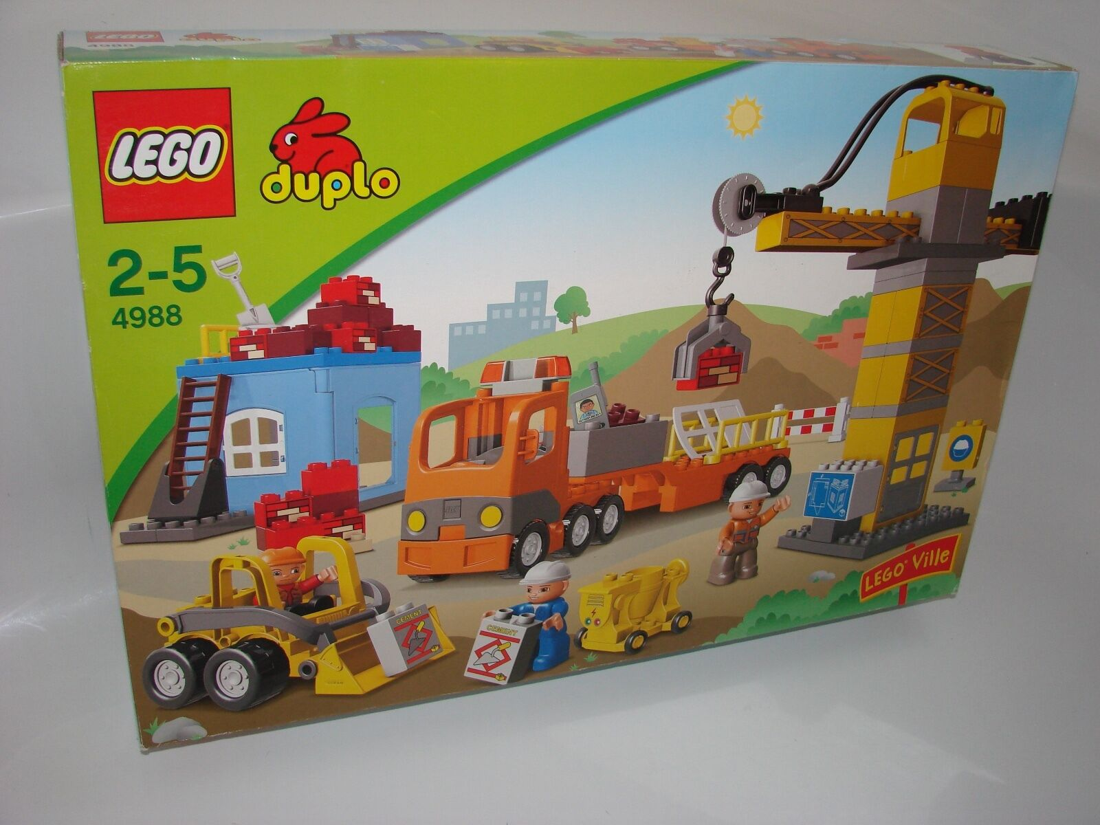 LEGO ®  DUPLO ® 4988 grei Cantiere NUOVO OVP _ construction site nuovo MISB NRFB  centro commerciale online integrato professionale