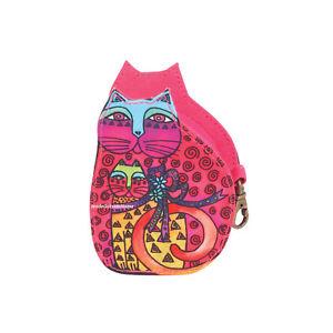 7138f59c469 Laurel Burch Cat Mother Daughter Kitten Coin Purse Multi   Pink NEW ...