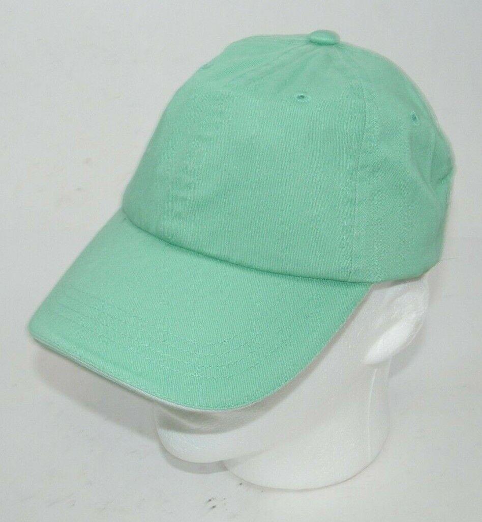 (5) PORT AUTHORITY MINT GREEN WITH WHITE STRIPE CLOSURE C830 SANDWICH BILL CAPS