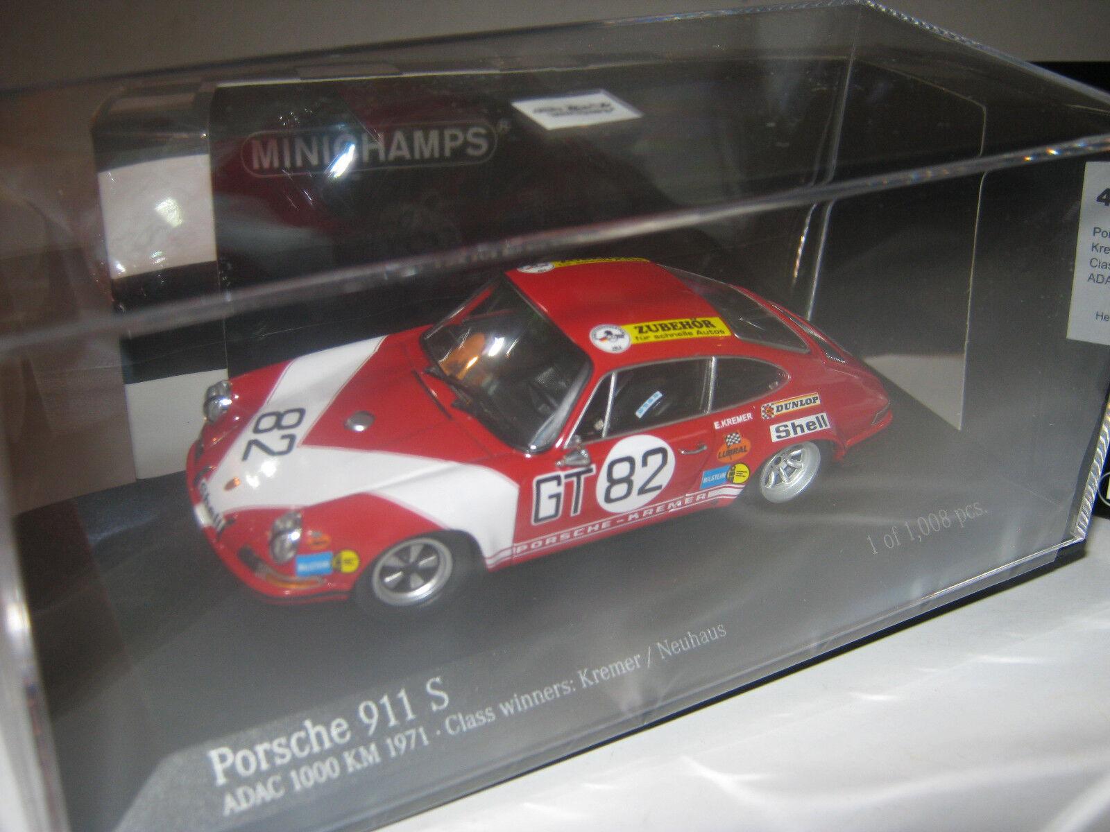 1 43 PORSCHE 911 S Kremer 1000 HM 1971 Minichamps 400716882 New L.E. 1 of 1008