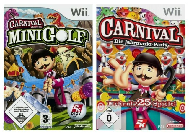 Wii - Carnival Bundle: Mini-Golf + Die Jahrmarkt-Party dans l'emballage utilisé