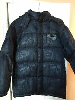 Fubu Down-filled Jacket W/ Hood- Youth 18/20 - Black - The Collection
