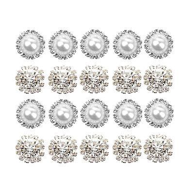 20pcs Mixed Rhinestone Button Flatback Wedding Jewelry Embellishment Decor