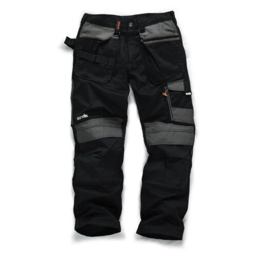 Scruffs 3D commercio Pantaloni Lavoro CORDURA HOLSTER Pantaloni al ginocchio tasche GRIGIO