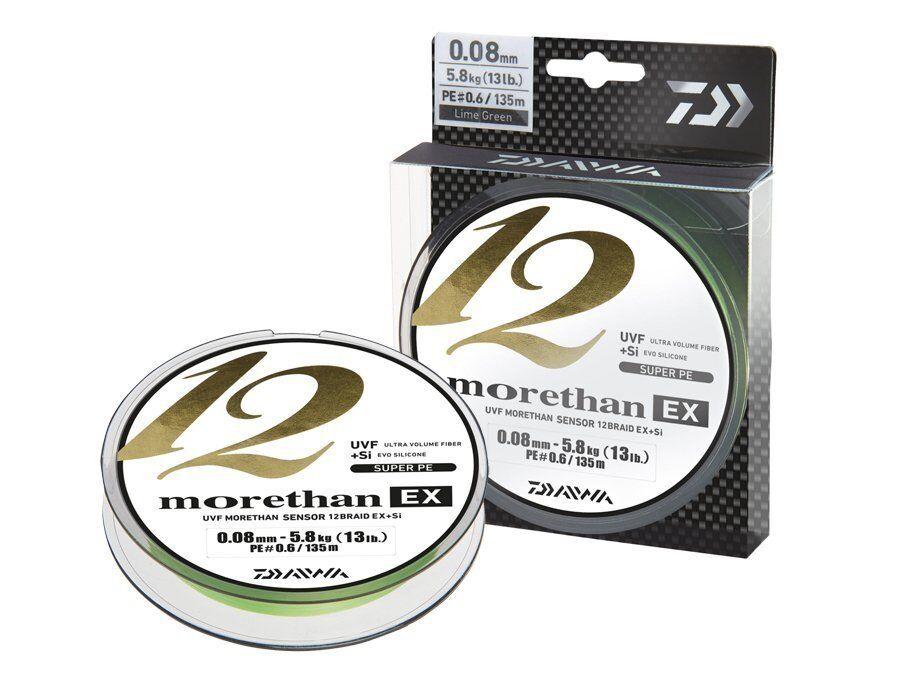 Daiwa Morethan 12 Braid EX+SI lime-verde - 135m NUEVO 2019