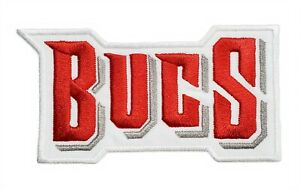 Tampa Bay Buccaneers Bucs Text Super Bowl NFL Football Embroidered Iron on Patch