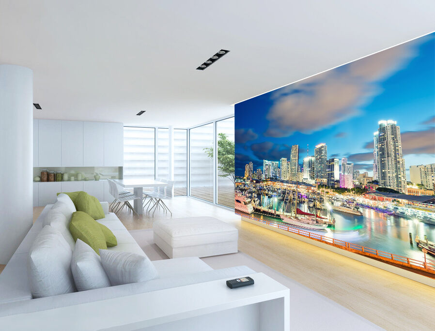 3D Weiß Clouds City 514 Wall Paper wall Print Decal Wall Deco Indoor wall Mural
