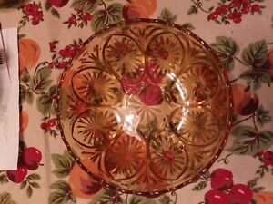 Amber-Gold-Depression-Glass-Sunburst-Scalloped-Serving-Bowl-8-034