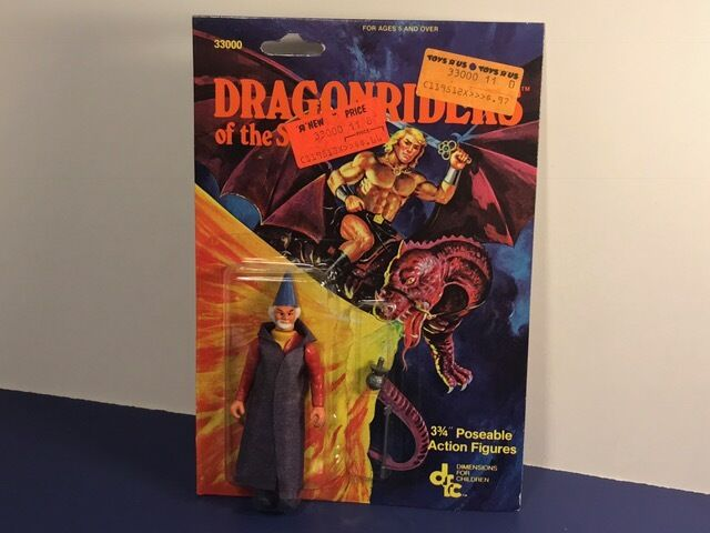 1983 DFC DIMENSIONS DRAGONRIDERS OF STYX ACTION FIGURE MOC RED WIZARD SORCERER
