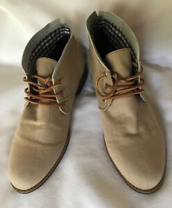 3cb0e7b727a NWOB GUESS Mens Tan Cloth/Leather Chucka Boots-Size 13M | eBay