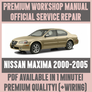 workshop manual service repair guide for nissan maxima 2000 2005 rh ebay co uk 2000 Nissan Maxima Solenoid 2000 Nissan Maxima Belt Diagram
