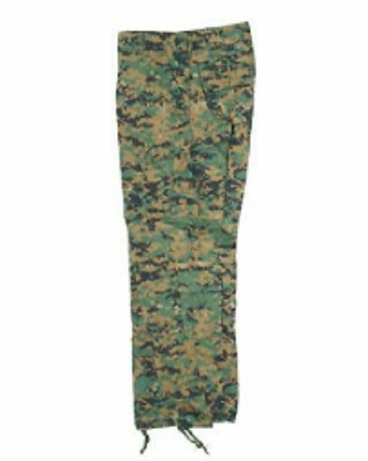 Us Acu Combat Tactical Army Field Trousers Pants Digital Woodland Camouflage L