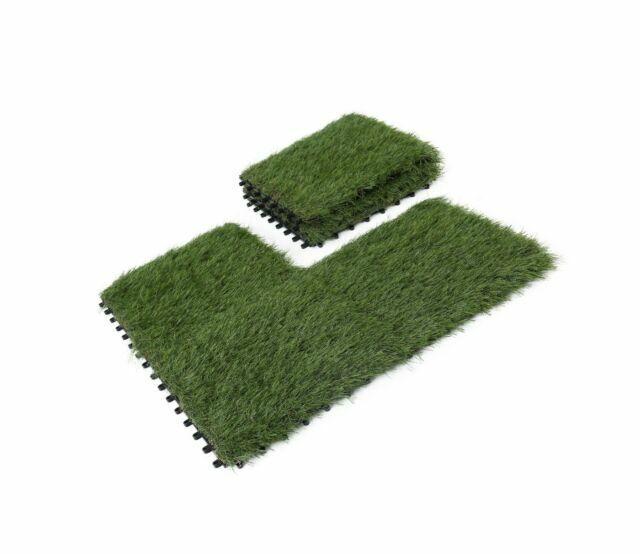 Golden Moon Artificial Grass Turf Interlocking Tile Self Draining Mat 6 Pack For Sale Online Ebay